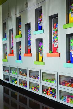 Custom Dental Office Prize Wall