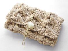 ニットクラッチバッグ-Harvest(L)-BEG - Beyond the reef 一つ一つ丁寧に編み上げるハンドメイドのクラッチバッグ