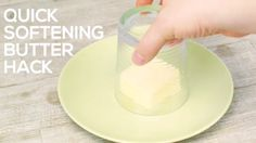 """If your butter is too hard to serve or spread, place a warm glass on it. The butter will soften in a minute or two. 