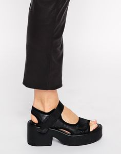 Image 4 ofVagabond Emma Black Peforated Heeled Sandals