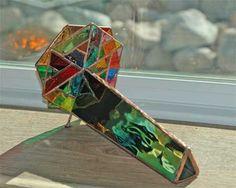 Iridescentstained glass kaleidoscope