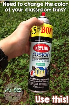Use Krylon Fusion paints for cheap plastic bins - they can be anything you want!