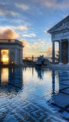 Hearst Castle, California, USA I have seen this too the Neptune Pool and its a awesome tour of 3 or you have to take a twisty turny bus ride to the top of the Castle.The views of the Pacific Ocean are breathtaking. California Missions, California Dreamin', Places To See, Places Ive Been, Travel Around The World, Around The Worlds, San Simeon, San Luis Obispo County, Vacation Pictures