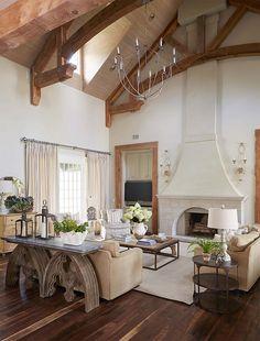 Tudor-style Home with Black Windows