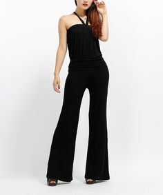 Look at this Black Halter Jumpsuit on #zulily today!
