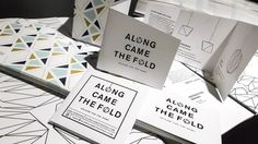 Angle cut, origami-inspired #brochures for Sara Sheridan (@alongcamethfold) and her line of #origami for the home.