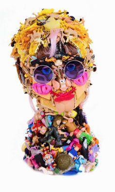 PLASTIC DOLL FACES BY FREYA JOBBINS