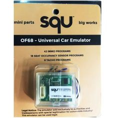 SQU OF68 Universal Car emulator is new car immo emulator for multi-brand vehicles. SQU OF68 CAR Immo Programs Emulator contains 42 Immo Programs, 18 seat occupancy sensor programs and 8 tacho programs.