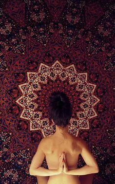 Backward prayer asana<3