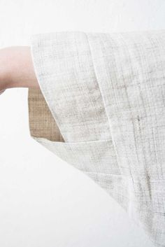 Linen jacket sleeve detail; sewing inspiration; creative pattern cutting; fashion design details ~Boessert Schorn