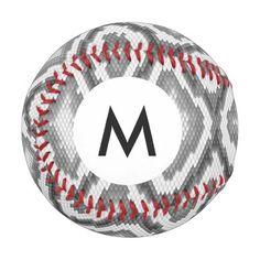 Monogram Python snake skin pattern Baseball