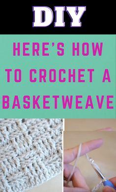 Basket Weave Crochet, Basket Weaving, Knitting Projects, Crochet Projects, Learn To Crochet, Crochet Geek, Crochet Humor, Front Post Double Crochet, Crochet Instructions