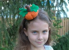 Pumpkin Headband Halloween Fascinator
