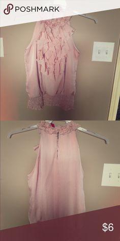 Ruffled top Pretty pink ruffled blousey tank Tops