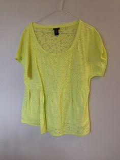 Torrid Size 1 Yellow Shirt Women's #Torrid #Blouse