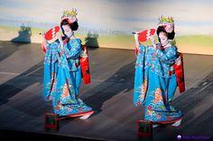 Geisha from Gion Kobu dance in scene four of the 2012 Miyako Odori in Kyoto