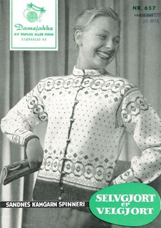 Click to enlarge Fair Isle Chart, Norwegian Knitting, Fair Isle Knitting, Knit Jacket, Vintage Knitting, Color Combinations, Mantel, Knitting Patterns, Graphic Sweatshirt
