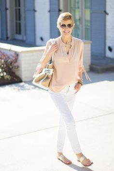 BLUSH PINK AND MAGGIE WILSON BAG I Survived, Blush Pink, White Jeans, Pure Products, Bags, Fashion, Light Rose, Handbags, Moda