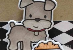 cupcake toppers, playful pups mama elephant clear stamps and die cuts, kraft bazzill cardstock
