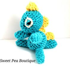 Crochet Dino dinosaur crochet toy baby gift by SweetPeaBoutique15