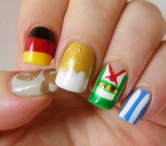 Oktoberfest nails @Linzey H I expect nothing less from you!!!