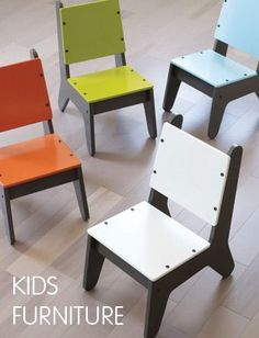 Kid's Chairs...with the right template and some MDF and paint, these could be…