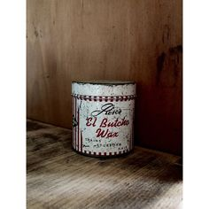 Rose's El Butcho Wax Tin Container Vintage 1950s Butch Hair Cut Pomade... ($9) ❤ liked on Polyvore featuring home, home decor and small item storage