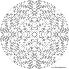 Geometric Mandala to color