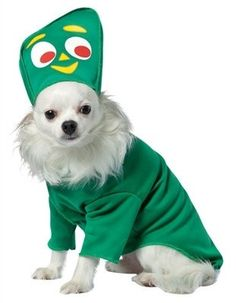 This adorably funny Gumby dog costume will have all eyes on your pup for sure! Your dog will be the life of the party in this costume.