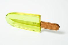 Popsicle Knife Conceptual Packaging by Yskoud Uhuru Food Design, Creative Design, Design Art, Graphic Design, Design Humor, Design Industrial, Gadgets, 3d Models, Design Graphique
