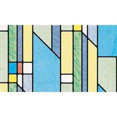 "DC Fix Geometric Stained Glass Self-Adhesive Transparent Window Film 17.75"" x 157.5"" at Menards"