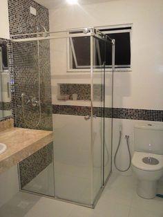 Resultado de imagem para box de canto de banheiro