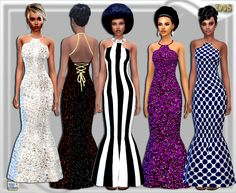 Tie Back Gown at Dreaming 4 Sims via Sims 4 Updates
