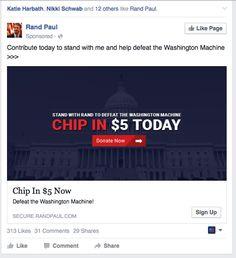 Political Ads, Donate Now, Politics