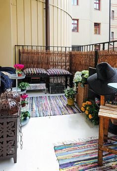 beautiful apartment balcony homeinsides 31 Two Room Apartment with Stylish and Beautiful Design