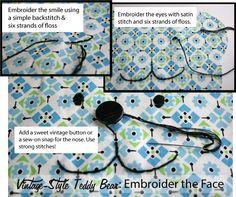 Vintage-Style Teddy Bear Pattern & Tutorial   Whipstitch - Part 1