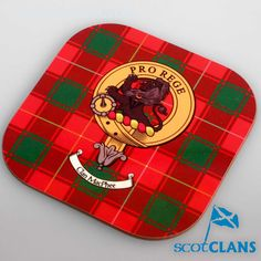 McPhee Clan Crest Coaster. Free worldwide shipping available