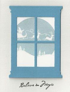 Memory Box Grand Madison Window Die - santa sleigh - bjl