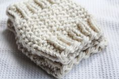 Chunky ankle warmers . Color is beige light by Cottonbeanies, $15.00