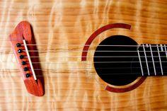Short multiscale, medium-bodied acoustic in flame redwood and padauk. Custom Guitars, Acoustic, Medium, Music, Muziek, Musik, Medium-length Hairstyle, Songs