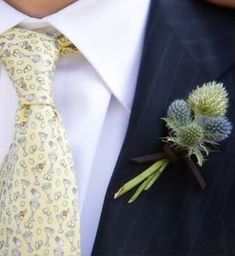 Love this idea of a simple wild flower for the boutonniere. For my (hopeful) color palette though, I was thinking maybe lavender and daisies