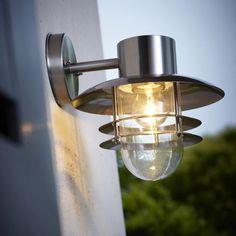 Applique ext rieure montante detection minos chrome for Luminaires exterieurs blooma