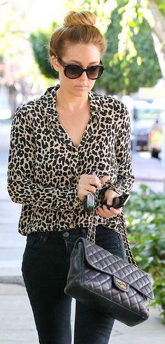 Leopard, oversized sunnies + Chanel. #streetstyle ~