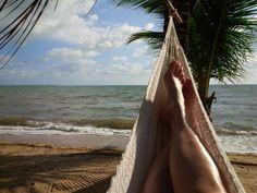 Enjoying a relaxing moment in the hammock at Kanantik Jungle Resort in Belize