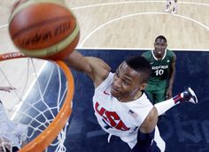The US men's basketball team smashes records! Carmelo Anthony scored a game-high 37 points on 10-of-12 shooting from 3-point range.  US broke Brazil's record which they made in 1988 Seoul Olympic Games defeating Egypt 138-85 in a preliminary round, AFP reported.  Andre Iguodala sank the record-breaking 3-pointer with 4:36 remaining in the fourth quarter to give the US squad 139 points before the multi-millionaire line-up added another 17 points to the record total. - London 2012