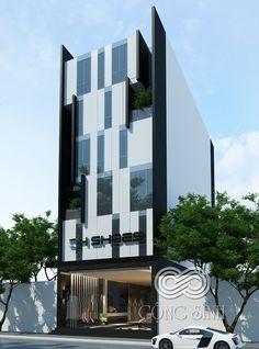 Văn phòng DH Shoes Office Building Architecture, Hotel Architecture, Building Exterior, Building Facade, Commercial Architecture, Modern Architecture House, Building Design, Facade Design, Ideas