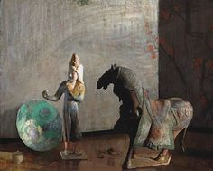 Hovsep Pushman, The Chinese Horse, oil 22.75 x 28 inches