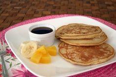 Pancakes de harina de ma�z y coco-pi�a