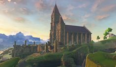 The Legend of Zelda: Breath of the Wild-Temple Of Time-Wii U Art Test, In Another Life, Legend Of Zelda Breath, Link Zelda, Environment Concept Art, High Fantasy, Breath Of The Wild, Cellphone Wallpaper, Miyazaki