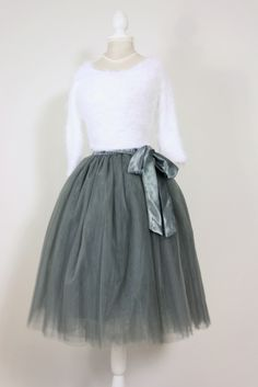Look at this stunning outfit! Amazing charcoal grey tutu with our NEW fluffy white jumper :D http://elsiesattic.co.uk/product-category/petticoats-and-tutus/